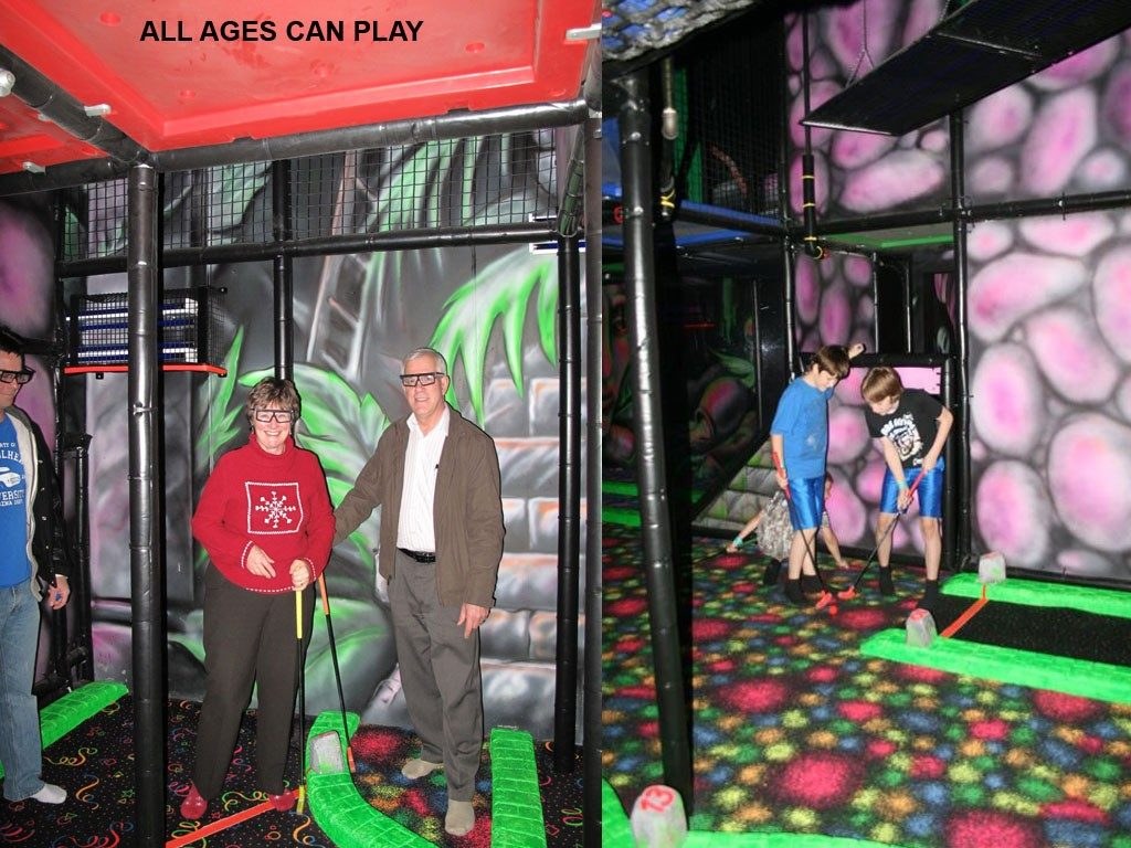 3D Indoor Mini Golf-3, Indoor Playground Equipment, Contained Play