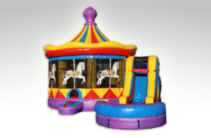 Inflatables Combo WC1035_PurpleCarousel-Pool