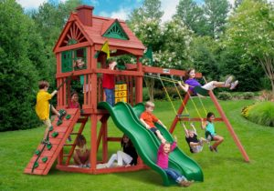 Double Down Swing Set, Wooden Play Set