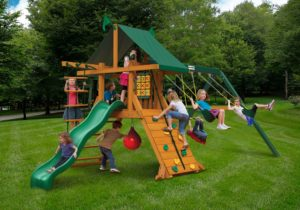 High Point Swing Set, Wooden Play Set