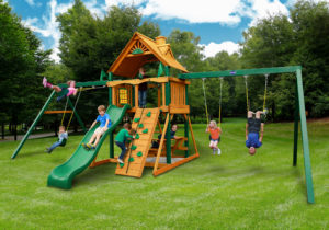Gorilla Chateau Duo, Wooden Swing Sets