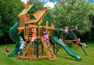 Great Skye I Treehouse Swing Set, Wooden Play Set