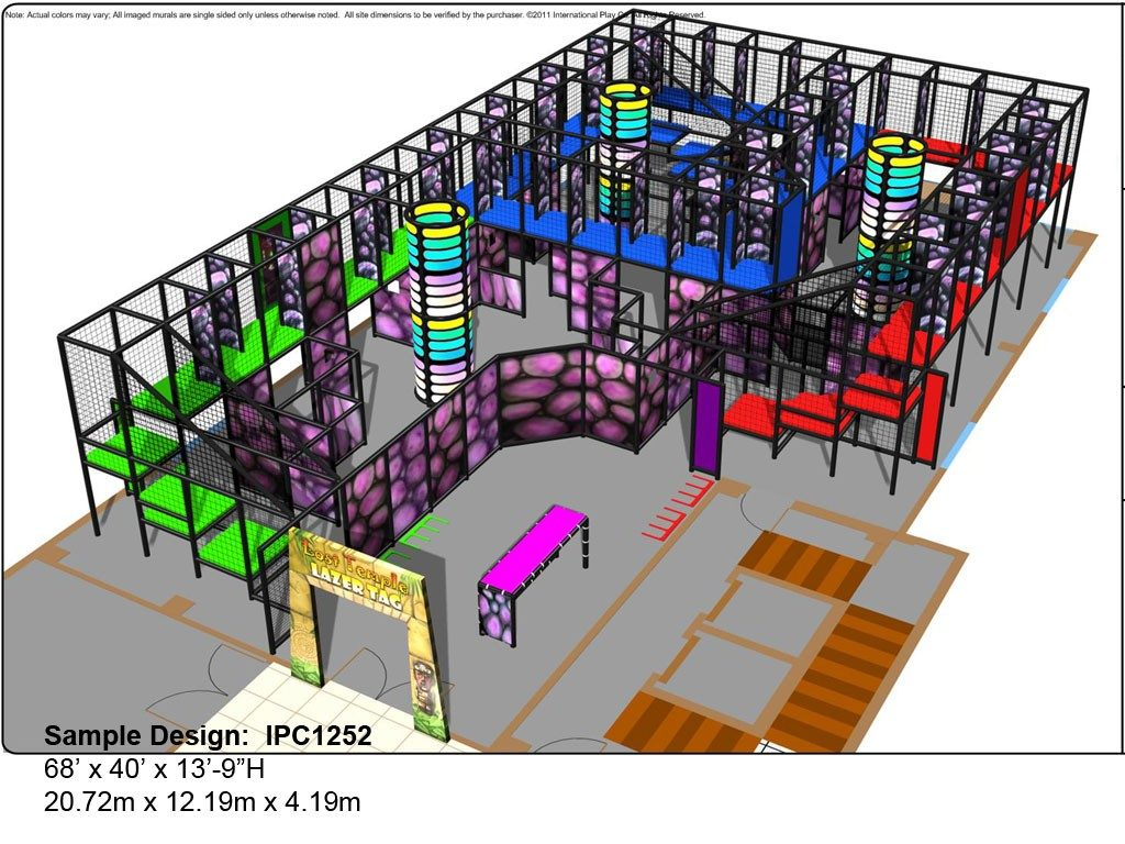IPC1252-laser-tag, Indoor Playground Equipment, Contained Play