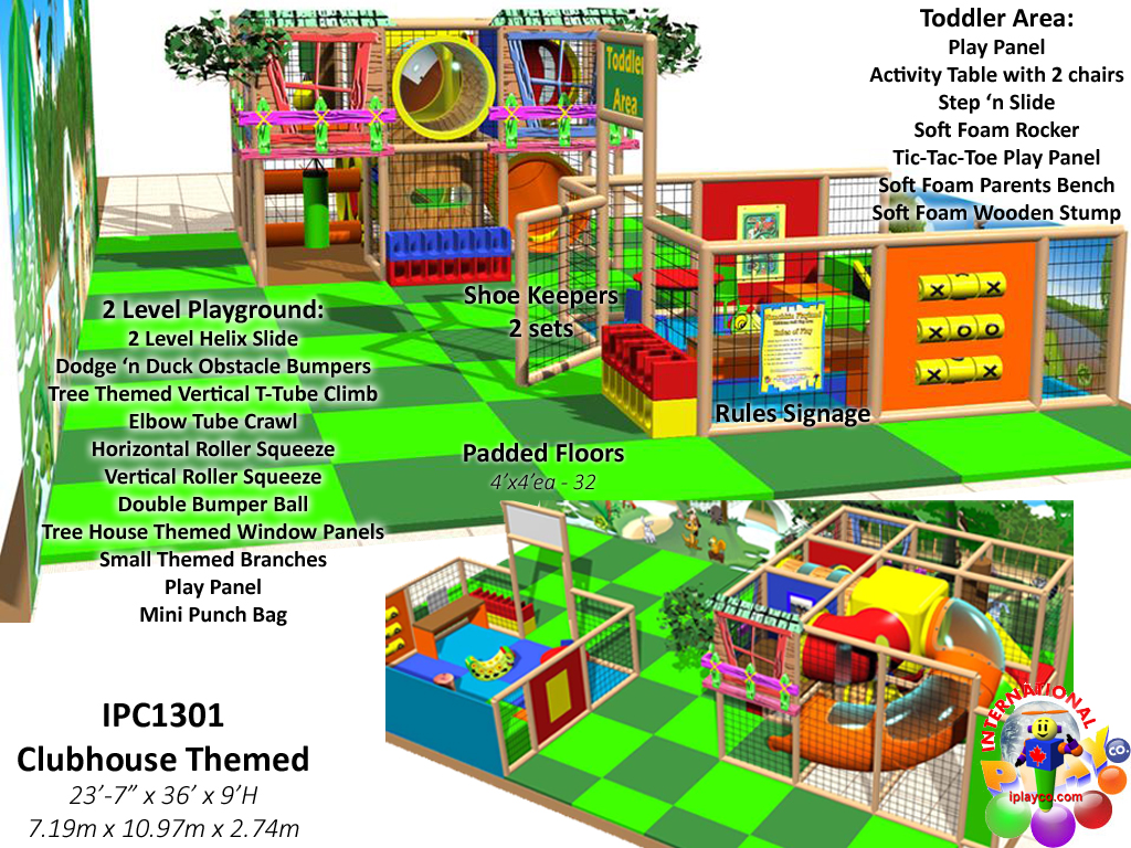 IPC1301, Indoor Playground Equipment, Contained Play Equipment