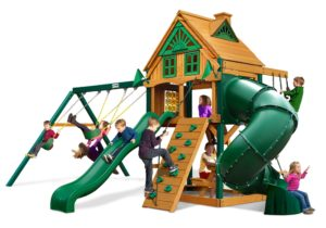 Mountaineer Treehouse Swing Set w/ Fort Add-On