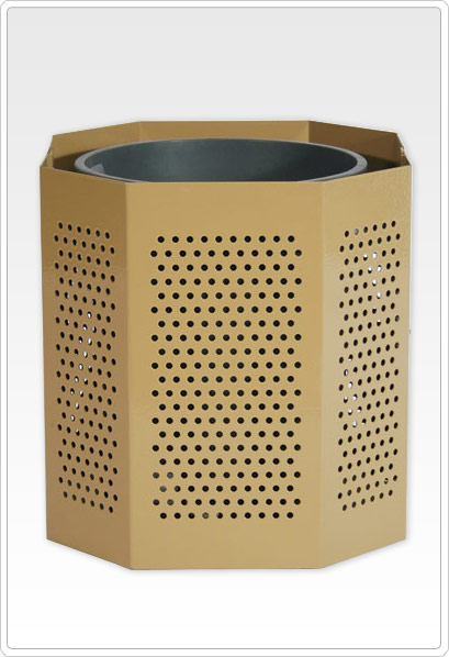 Perforated Steel Trash Can 55 Gal