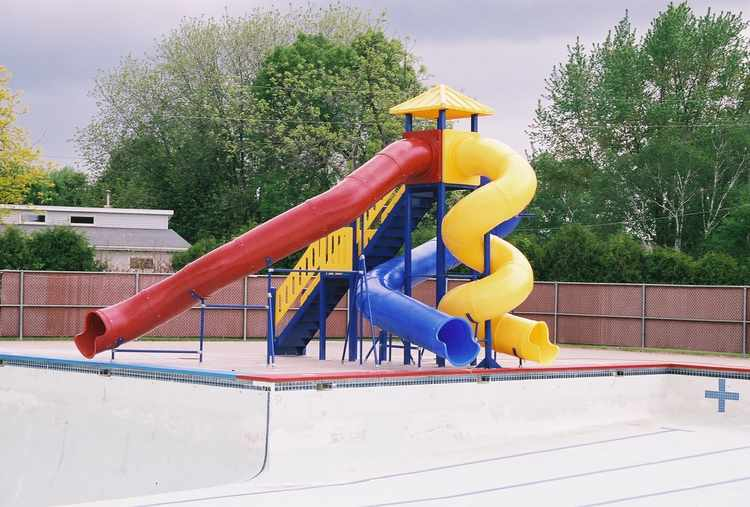 Pool Slide, Water Slide, 3400