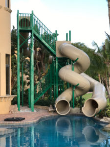 pool slide, water slide, slide