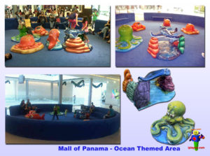 Shopping Center and Retail Installations - Mall of Panama - Ocean Themed 2011