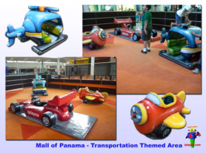 Shopping Center and Retail Installations - Mall of Panama - Transport Themed 2011