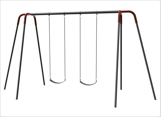 Swings - Heavy Duty Modern Tripod Swing - 10ft 2Seat