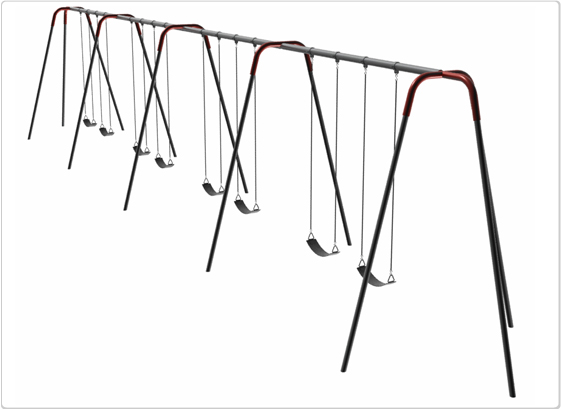 Swings - Heavy Duty Modern Tripod Swing - 10ft 8Seat