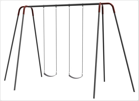 Swings - Heavy Duty Modern Tripod Swing - 12ft 2Seat