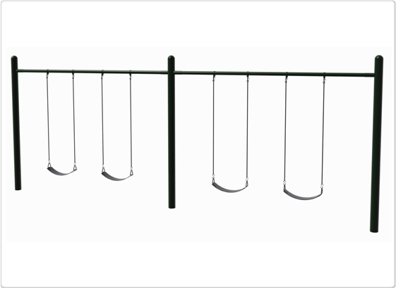 Swings - Single Post Swing - 4 Seat