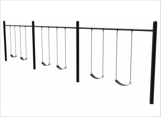 Swings - Single Post Swing - 6 Seat