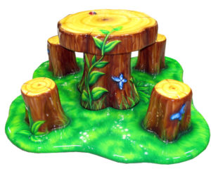Tuff Stuff Log-Table-Stool-set