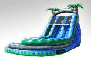 Inflatables Combo WS 1065 Blue Crush Curvy, Water Slide