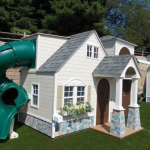 Custom playhouse with slide