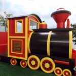 Play Train Engine with Slide, playhouse