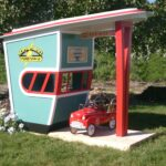 Turnpike Toll Booth, playhouse theming