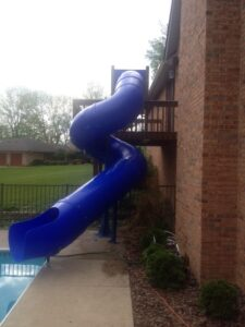 Lake Slide 12 ft (380 degree, custom slide)